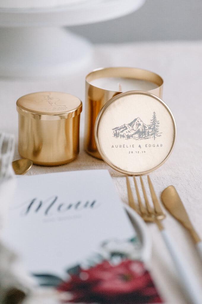 bougies parfumées idée cadeau mariage