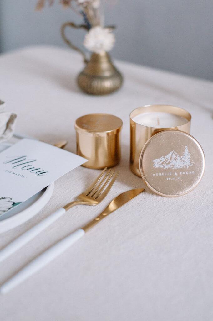 bougie parfumée idée cadeau mariage